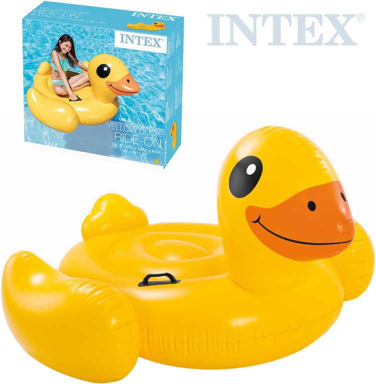INTEX Kačena malá nafukovací s úchyty 147x147x81cm dětské vozítko do vody 57556