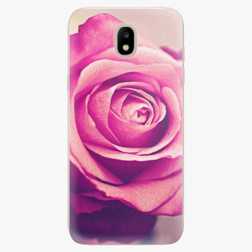 Silikonové pouzdro iSaprio - Pink Rose - Samsung Galaxy J5 2017