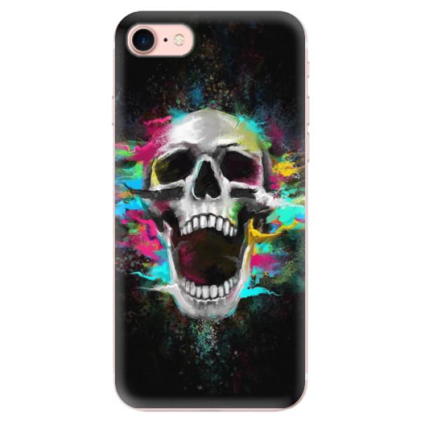 Odolné silikonové pouzdro iSaprio - Skull in Colors - iPhone 7