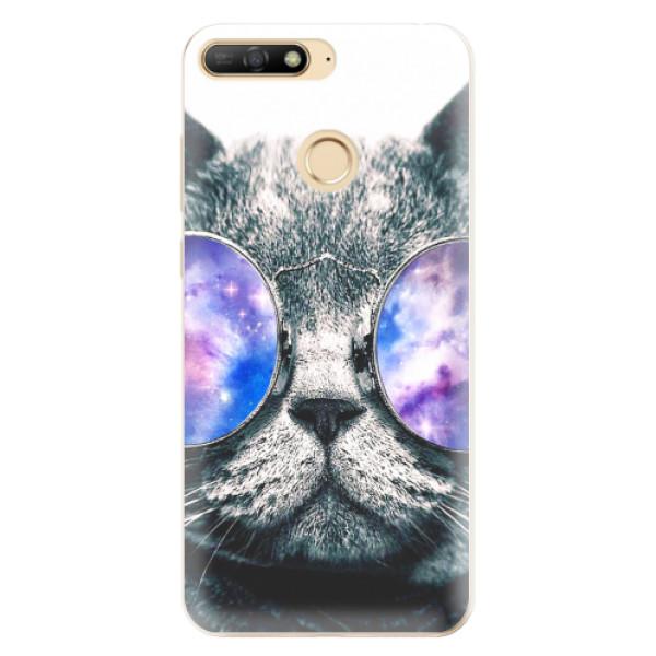 Odolné silikonové pouzdro iSaprio - Galaxy Cat - Huawei Y6 Prime 2018