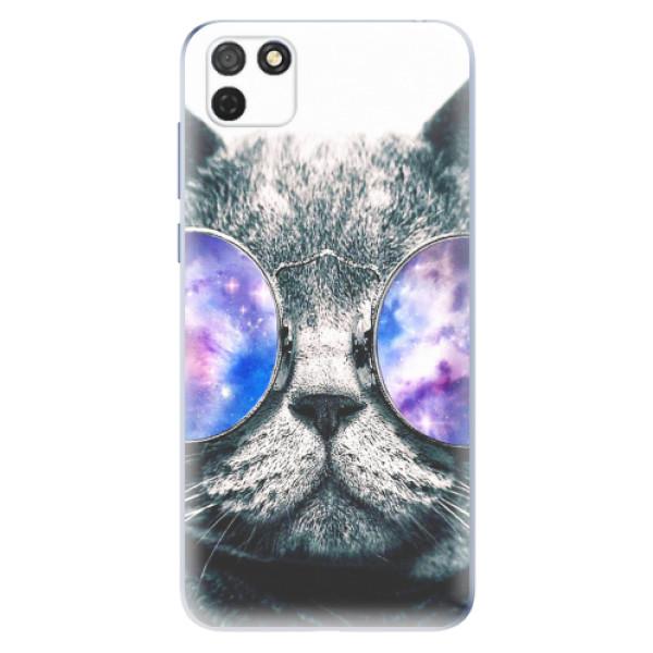 Odolné silikonové pouzdro iSaprio - Galaxy Cat - Honor 9S
