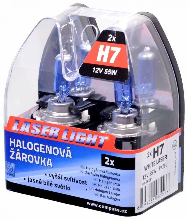Žárovka 12V H7, 55W PX26d WHITE LASER 2ks