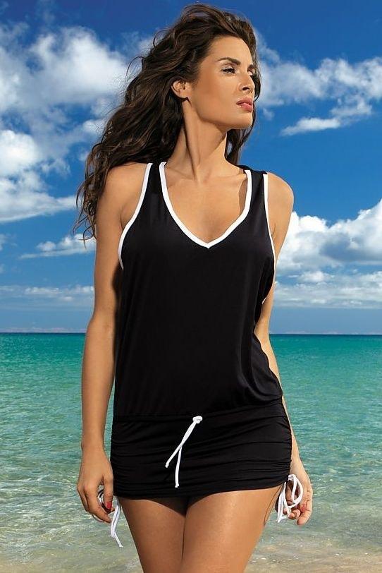 Plážové šaty MARKO 40103 černé - L