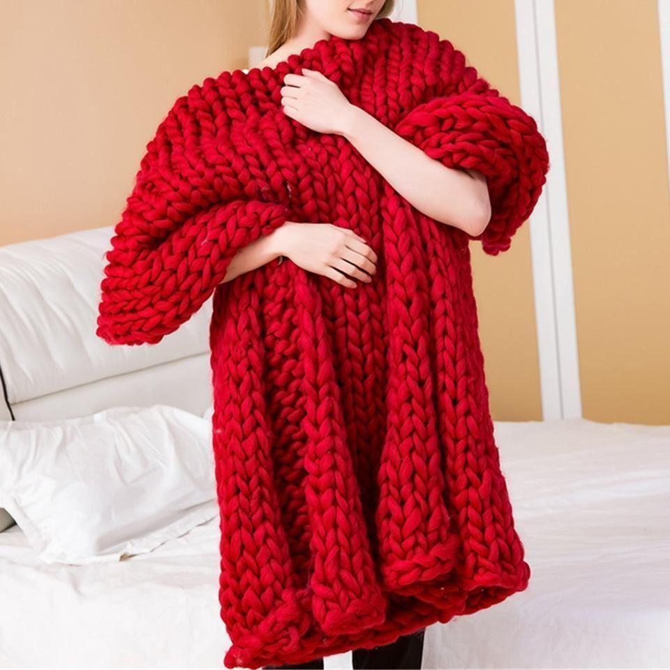 Příze pro ruční pletení - červená 4 ks