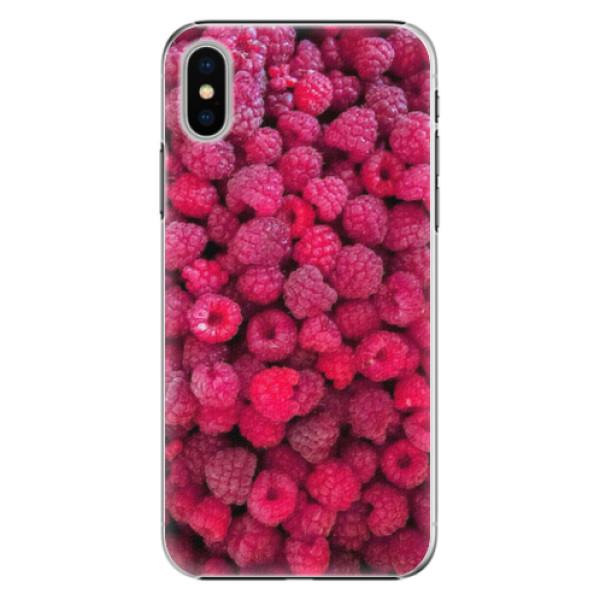 Plastové pouzdro iSaprio - Raspberry - iPhone X