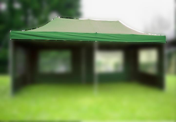 Náhradní střecha k nůžkovému stanu 3 x 6 m, zelená