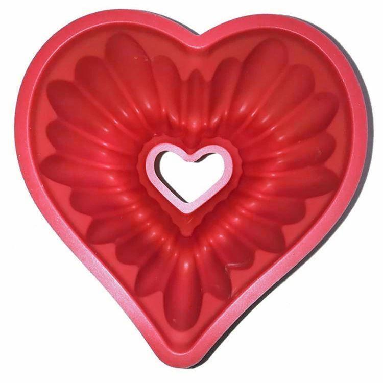 Silikonová forma na bábovku - srdce