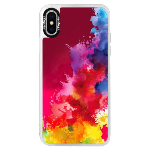 Neonové pouzdro Pink iSaprio - Color Splash 01 - iPhone XS