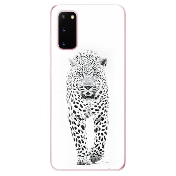Odolné silikonové pouzdro iSaprio - White Jaguar - Samsung Galaxy S20