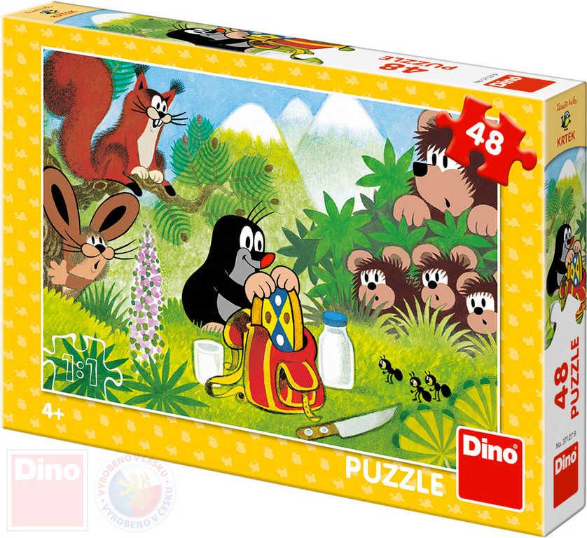 DINO Puzzle Krtek a svačina (Krteček) 26x18cm skládačka 48 dílků