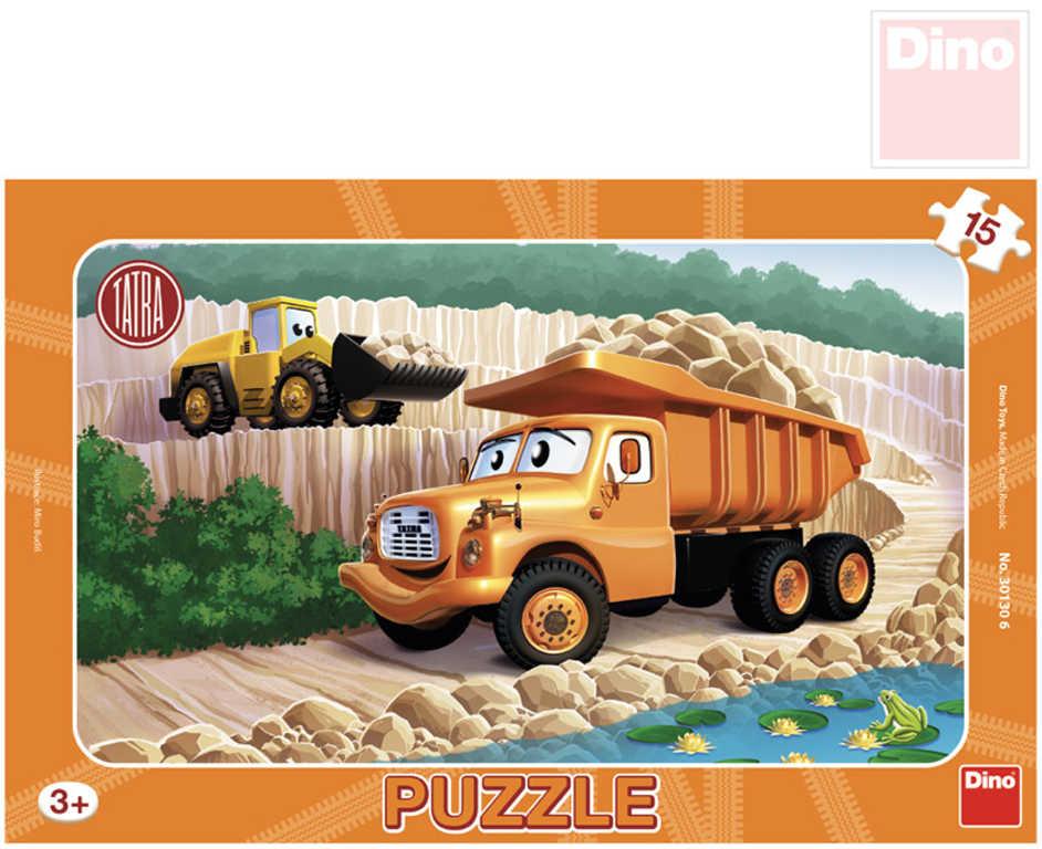 DINO Puzzle Tatra 15 dílků 25x15cm skládačka v rámečku