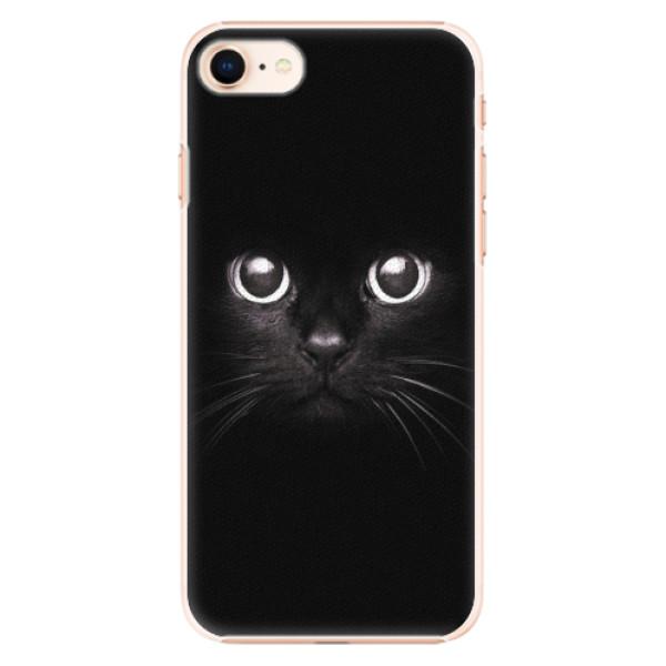 Plastové pouzdro iSaprio - Black Cat - iPhone 8