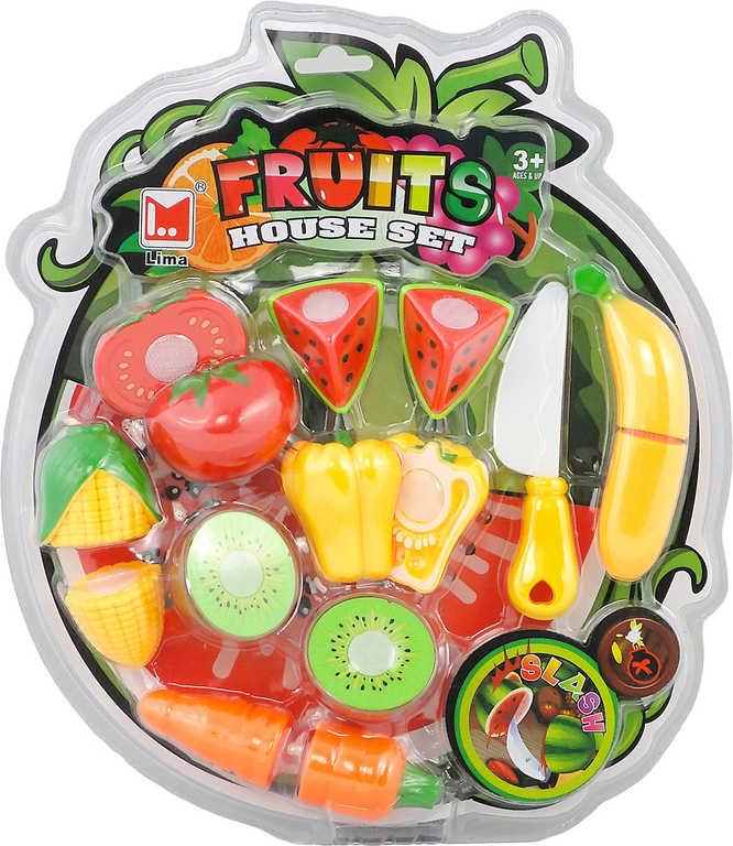 Sada krájecí potraviny ovoce a zelenina na suchý zip set s nožíkem plast