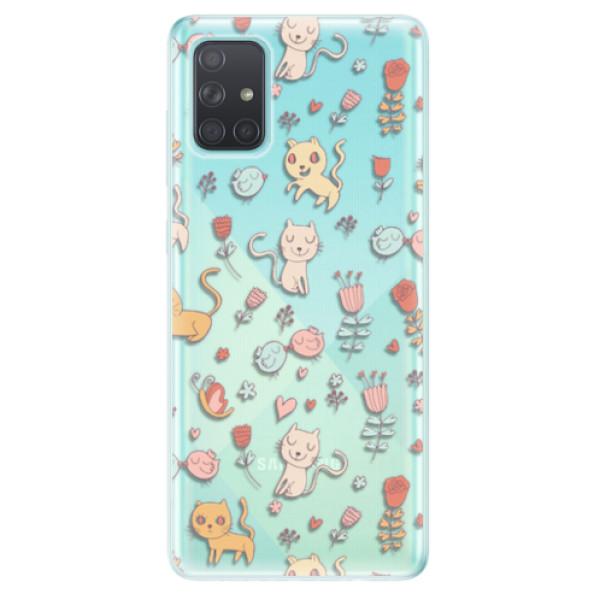 Odolné silikonové pouzdro iSaprio - Cat pattern 02 - Samsung Galaxy A71