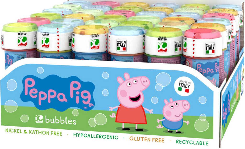 Bublifuk Peppa Pig 60ml dětský bublifukovač s hrou ve víčku