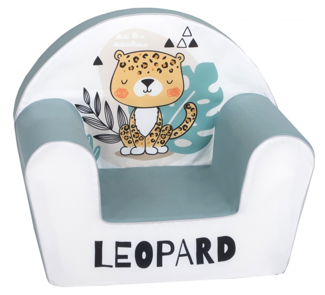 Delsit Dětské křesílko, pohovka - Leopard
