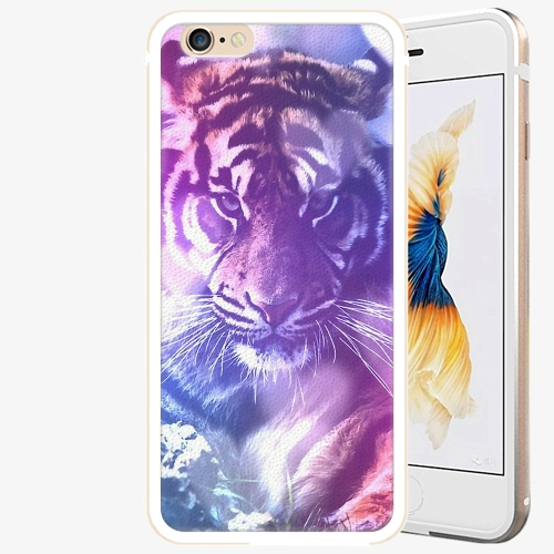 Plastový kryt iSaprio - Purple Tiger - iPhone 6 Plus/6S Plus - Gold