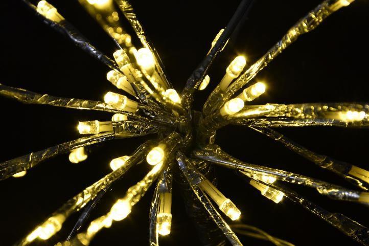 Vánoční LED osvětlení - meteorický déšť, teple bílý, 80 LED