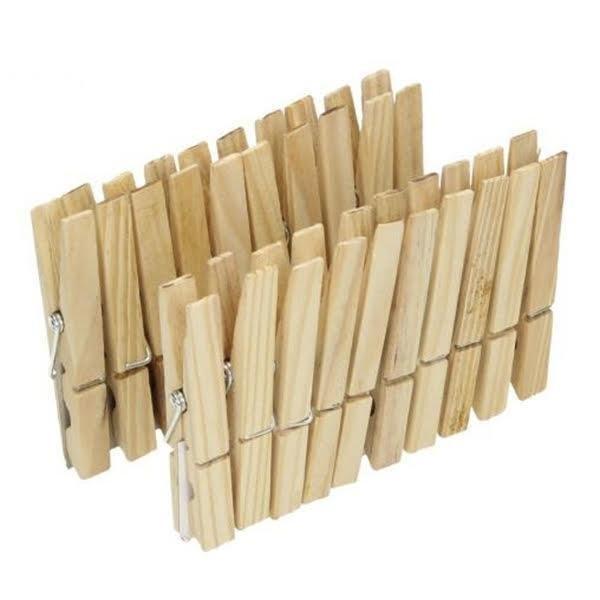 Kolíčky na prádlo dřevěné 20 ks