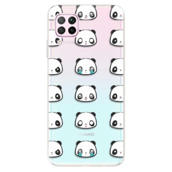 Odolné silikonové pouzdro iSaprio - Panda pattern 01 - Huawei P40 Lite