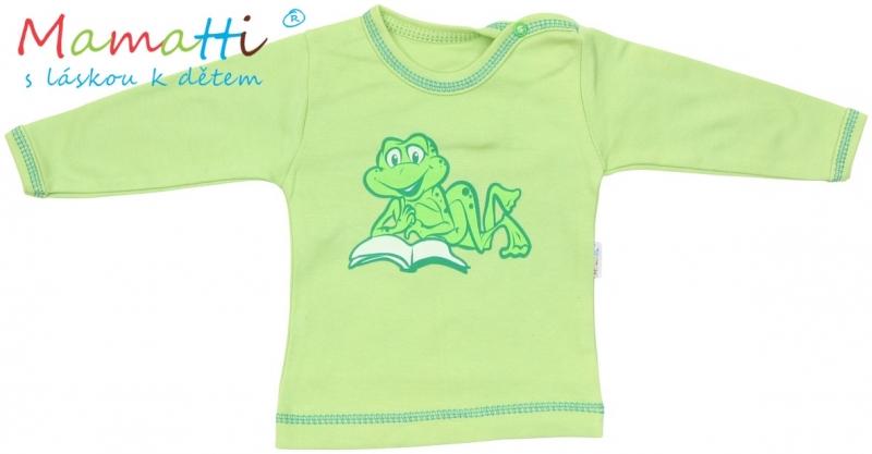 Tričko/košilka dlouhý rukáv Mamatti - FROG - zelené