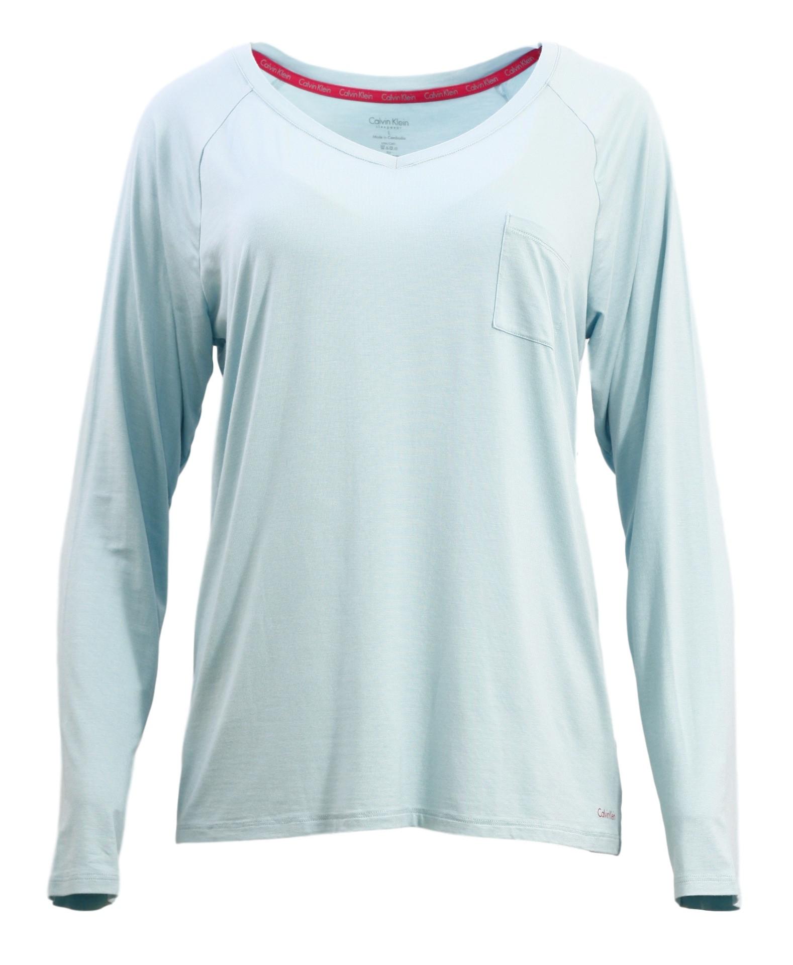 e4da016f1d3c Dámské tričko na spaní QS5322E - Calvin Klein - Modrozelená L empty