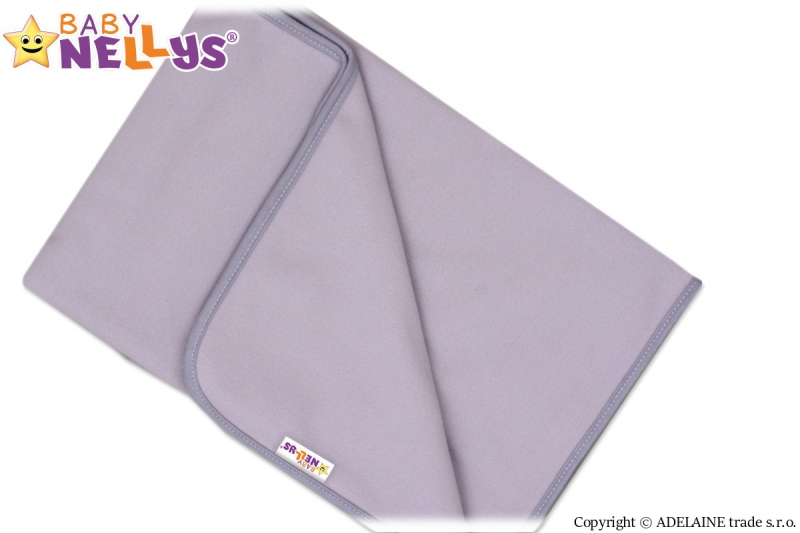 Deka/dečka polar Feel Baby Nellys ® - šedá - 75 x 100 cm