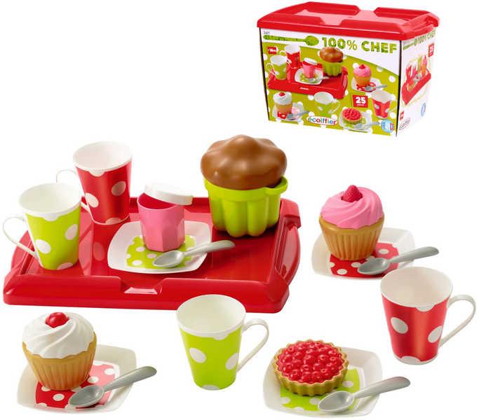 ECOIFFIER Snídaně na tácu snídaňový set PLAST