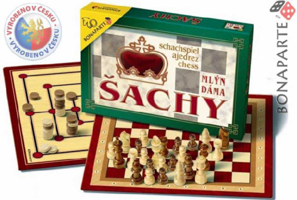 BONAPARTE Šachy, Dáma, Mlýn hra 4644 *SPOLEČENSKÉ HRY*