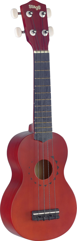 Stagg US10 TATTOO, sopránové ukulele s dekorem tetování