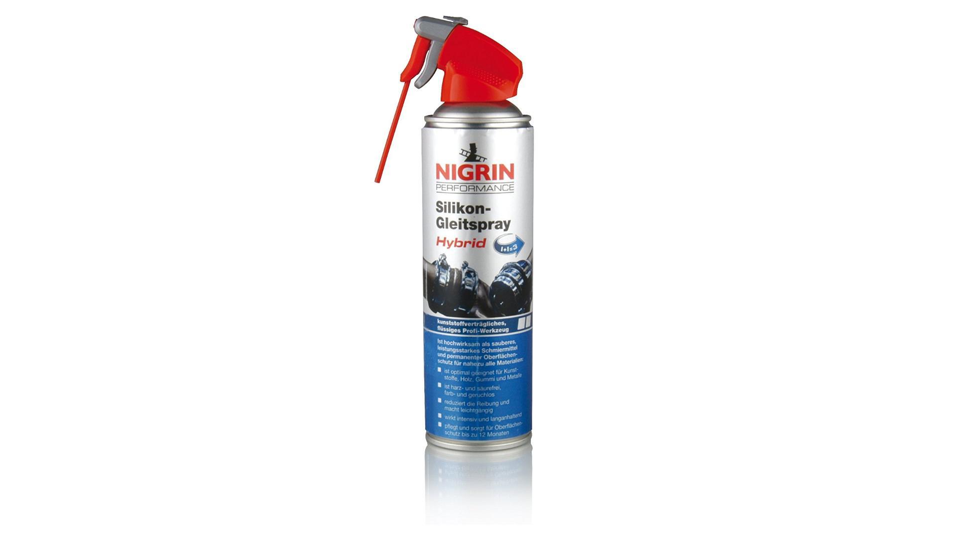 NIGRIN Silicone Oil Spray 500ml HyBrid