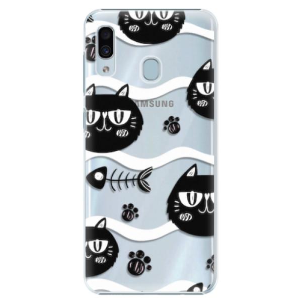 Plastové pouzdro iSaprio - Cat pattern 04 - Samsung Galaxy A20