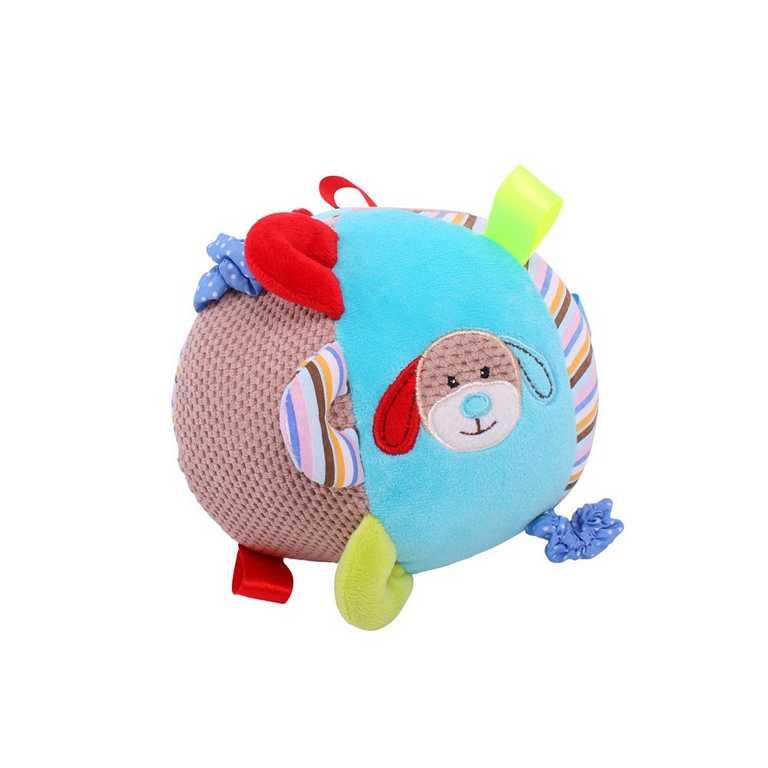 Bigjigs Baby Textilní motorická koule pejsek Bruno