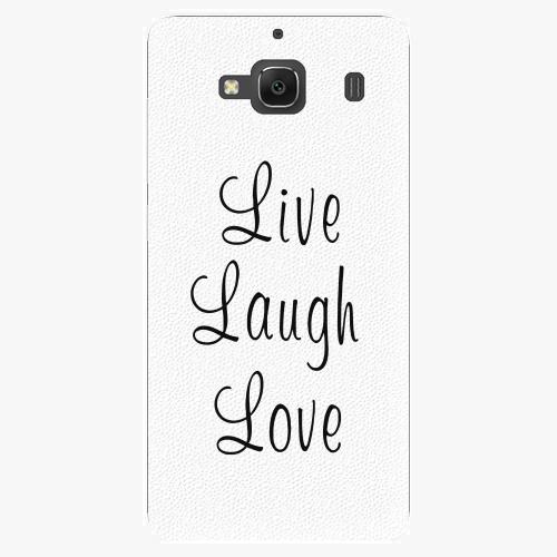 Plastový kryt iSaprio - Live Laugh Love - Xiaomi Redmi 2