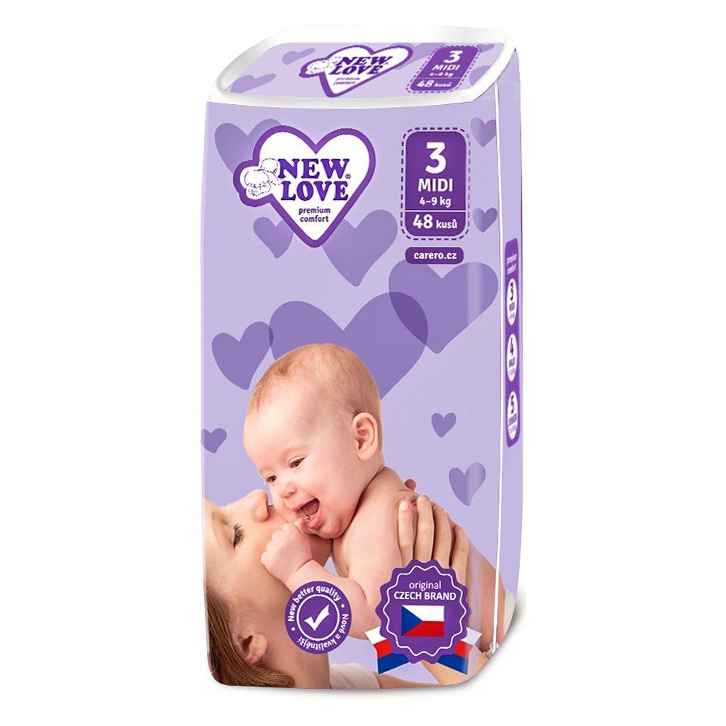 Dětské jednorázové pleny New Love Premium comfort