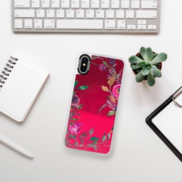 Neonové pouzdro Pink iSaprio - Herbs 01 - iPhone XS