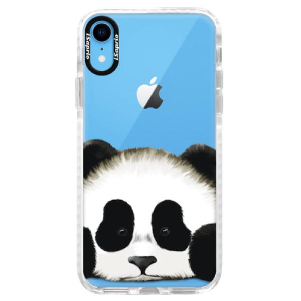 Silikonové pouzdro Bumper iSaprio - Sad Panda - iPhone XR