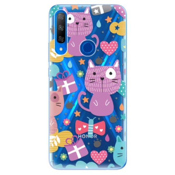 Odolné silikonové pouzdro iSaprio - Cat pattern 01 - Huawei Honor 9X