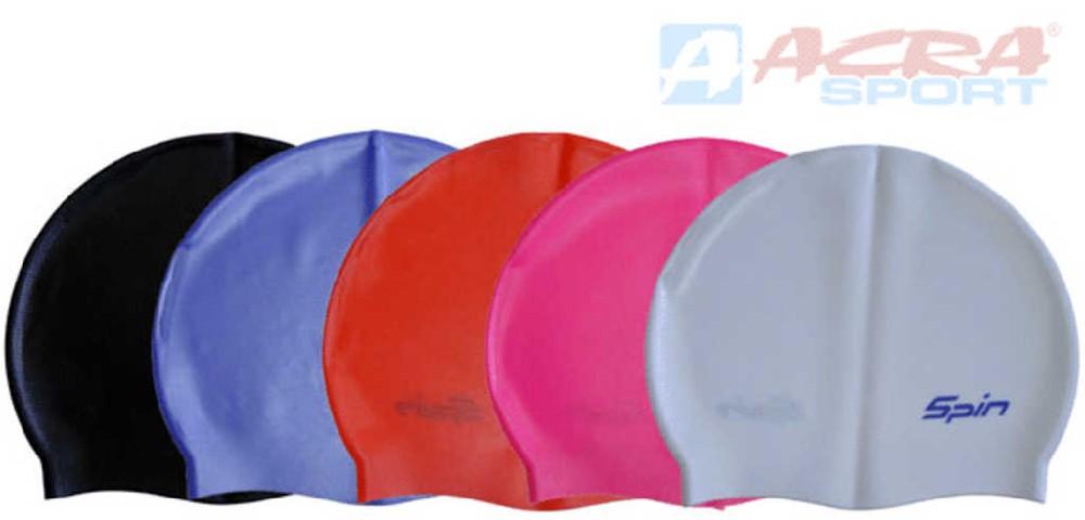 ACRA Čepice dětská koupací silikonová juniorská do vody P1127JR - 5 barev