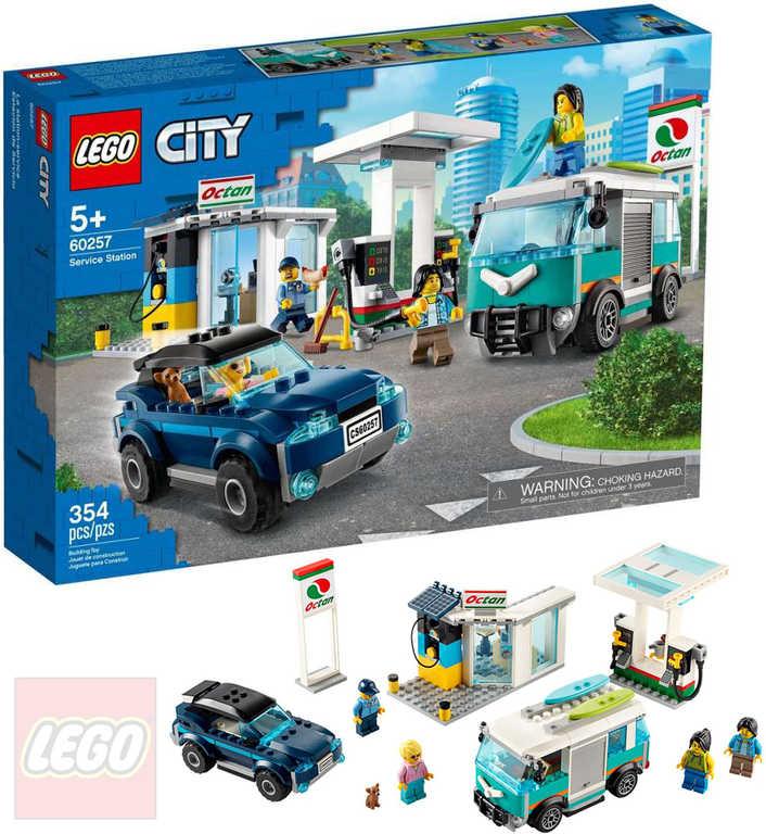LEGO CITY Benzínová stanice 60257 STAVEBNICE