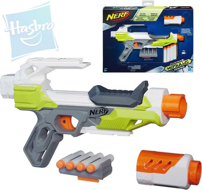 NERF ELITE Modulus Ionfire pistole dětská set se 4 náboji se zásobníkem plast