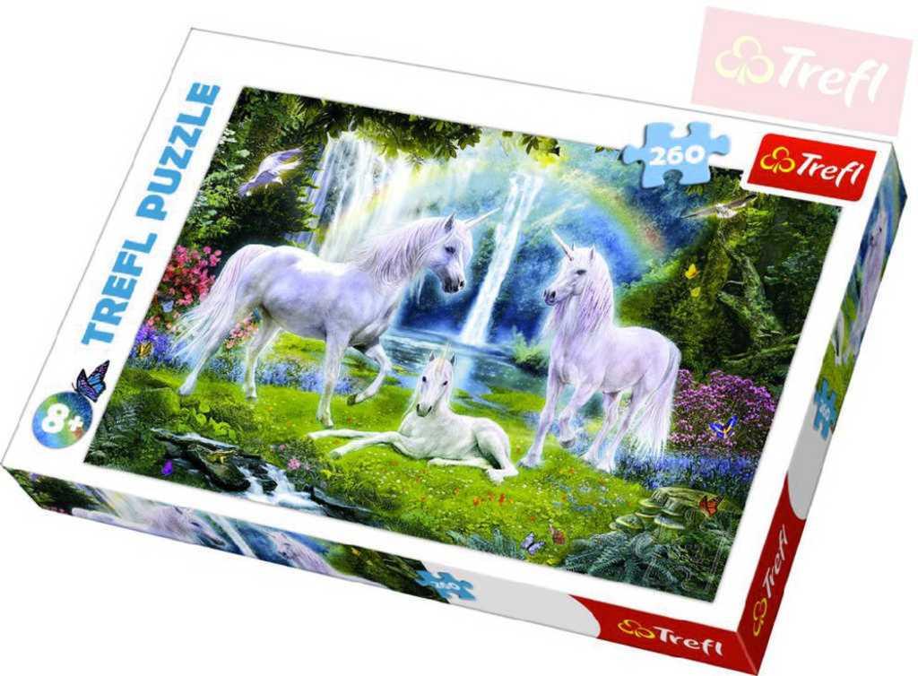 TREFL PUZZLE Puzzle Jednorožci koně 260 dílků 60x40cm v krabici