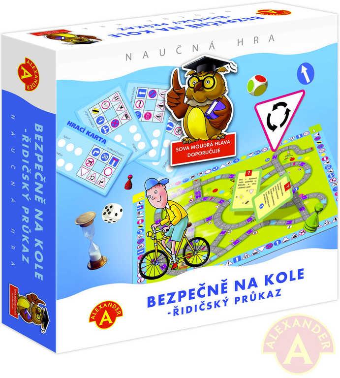 ALEXANDER Hra Bezpečně na kole - řidičský průkaz *SPOLEČENSKÉ HRY*