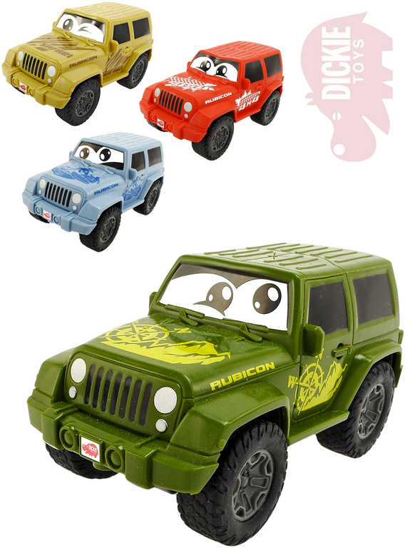 DICKIE Baby autíčko Jeep Wrangler 11 cm s očima měkké