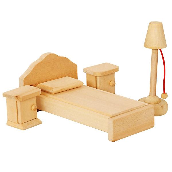 DŘEVO Ložnice nábytek pro panenky *DŘEVĚNÉ HRAČKY*