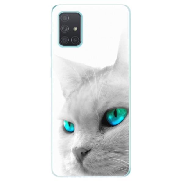 Odolné silikonové pouzdro iSaprio - Cats Eyes - Samsung Galaxy A71