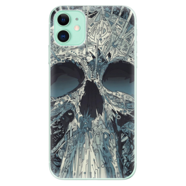 Odolné silikonové pouzdro iSaprio - Abstract Skull - iPhone 11