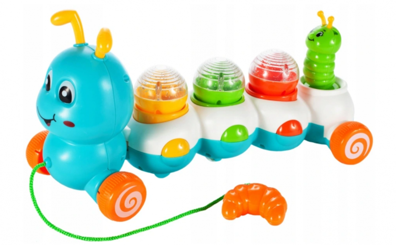 Tulimi Edukační tahací hračka se zvukem - Stonožka