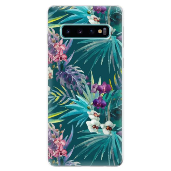 Odolné silikonové pouzdro iSaprio - Tropical Blue 01 - Samsung Galaxy S10