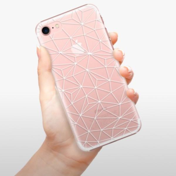 Plastové pouzdro iSaprio - Abstract Triangles 03 - white - iPhone 7